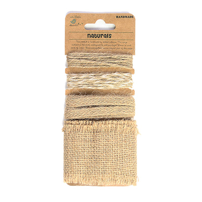 Burlap Trims 4mtr- Natural