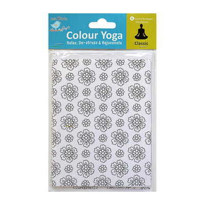 Colour Your Own Cards - Classic 6 Card & 6 Envelope