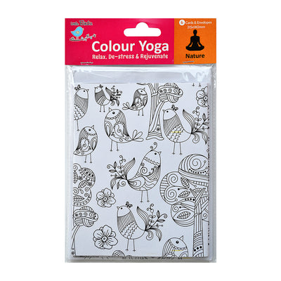 Colour Your Own Cards- Nature 6 Card & 6 Envelope