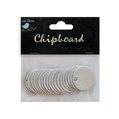 Chipboard Round Tags 20pcs
