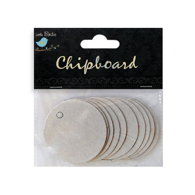 Chipboard Round Tags 10pcs