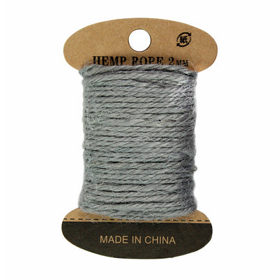 Hemp Twine 2mm, 10mtr - Grey
