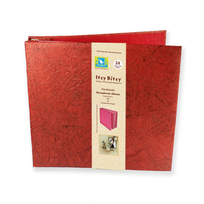 Scrapbook Album 8X8 Inch , 24 sheets - Red