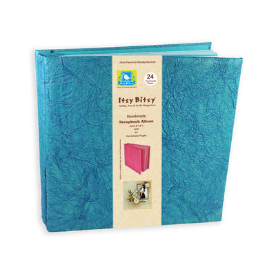 Scrapbook Album 8X8 Inch , 24 sheets - Blue