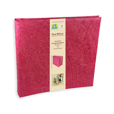 Scrapbook Album 12X12 Inch , 24 sheets  - Pink