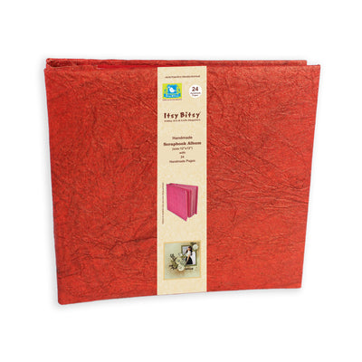 Scrapbook Album 12X12 Inch , 24 sheets - Red