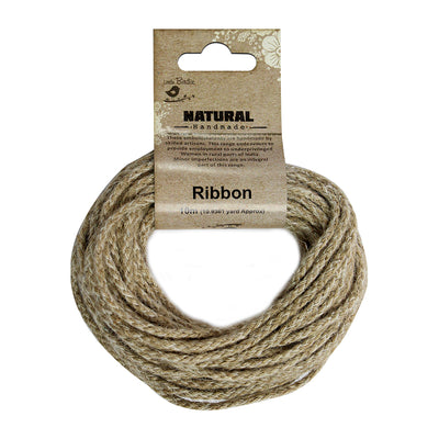Jute Braided Round Twine 10mt - Natural