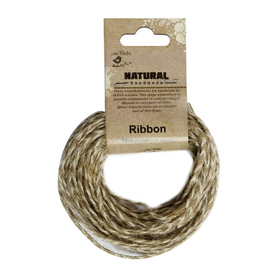 Jute Braided Flat Twine 10mt - Natural