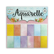 Chevron In Aquarelle Paper Pack 12X12 inch,12 sheets