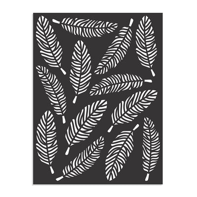 Stencil Feather Design -7.3x 9.7Inch, 1 Piece