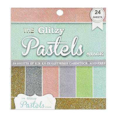 The Glitzy Pastels Stack - 6X6 inch, 24 Sheets