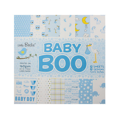 Baby Boo Paper Pack 12X12 inch, 12sheets