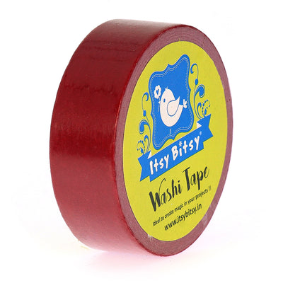 Washi Tape Candy Red- 15mmx10mtr