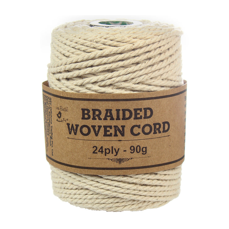 Braided Woven Cord 24ply -90gm, 1 Roll