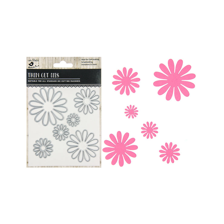 Thin Cut Dies - Daisy Field, 6pc