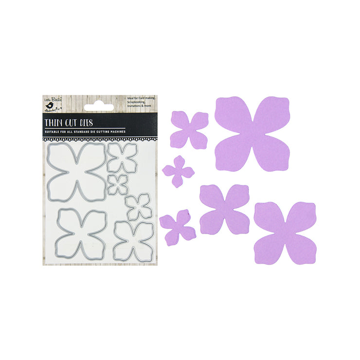 Thin Cut Dies - Flossie, 6pc
