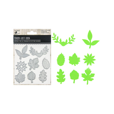 Thin Cut Dies - Leaf Melange, 8pc