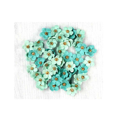 Handmade Flower Beaded Blooms- Arctic Ice, 50pcs