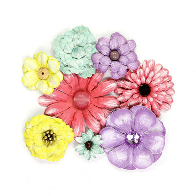 Handmade Flower Antique Fusion Flowers- Party, 8pcs