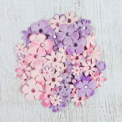Handmade Flower Jewel Flowers - Blushed Nudes, 36pcs