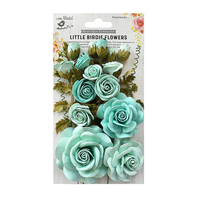 Handmade Flower Rosalind Arctic Ice 21Pc