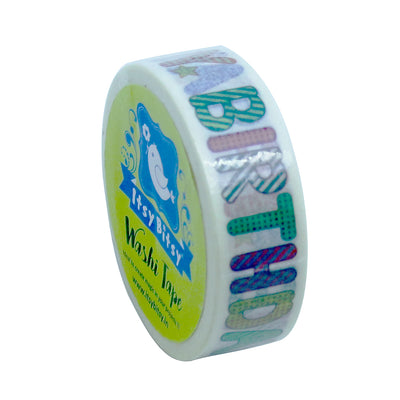 Washi Tape - Happy Birthday, 15mmx10m 1pc