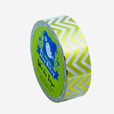 Washi Tape - Gold Chevron, 15mmx10m 1pc