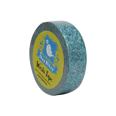 Washi Tape - Glittery Arctic Blue, 15mmx10m 1pc