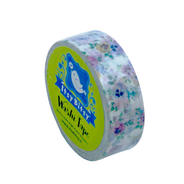 Washi Tape - Pansy Punch, 15mmx10m 1pc
