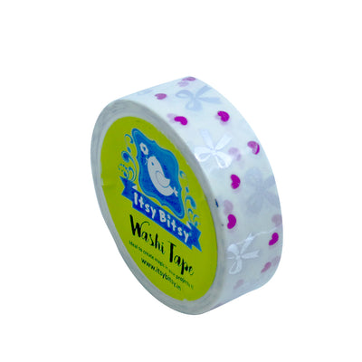 Washi Tape - Ribbons And Hearts, 15mmx5m, 1pc