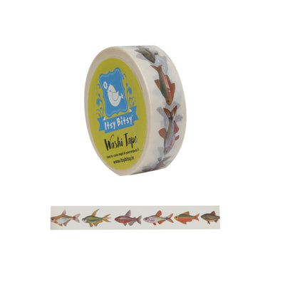 Washi Tape- Fish Tract, 15mm x 10mtr