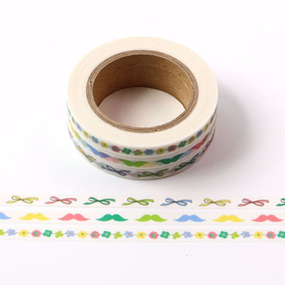 Washi Tape- Bows And Blooms, 5mm x 10mtr