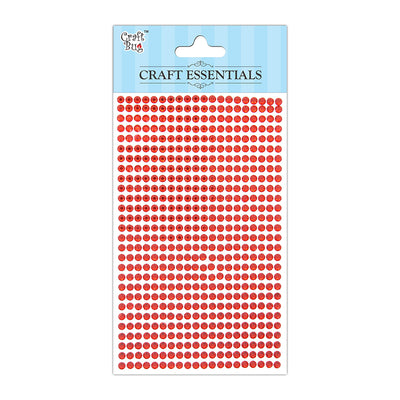 Self Adhesive Crystal Stones - Red 4mm , 28Strips, 553pcs
