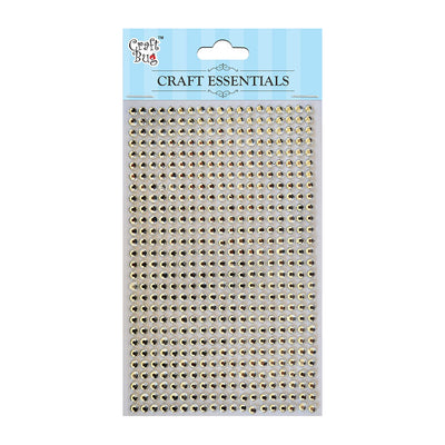 Self Adhesive Crystal Stones - White 4mm , 28Strips, 553pcs