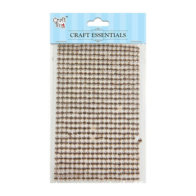 Self Adhesive Crystal Stones - Light Brown 4mm , 28Strips, 553pcs