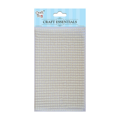 Plastic Half Pearl 3mm, 750pcs- White