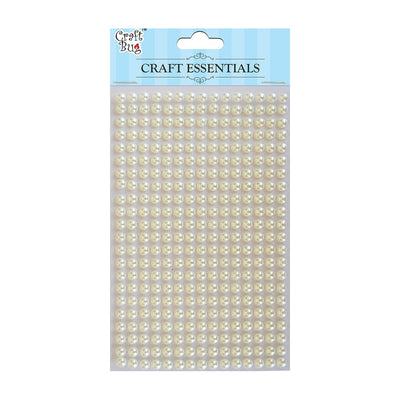 Plastic Half Pearl 5mm,330strips- White