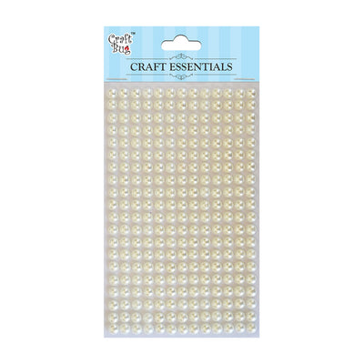 Plastic Half Pearl 6mm,260pcs- White