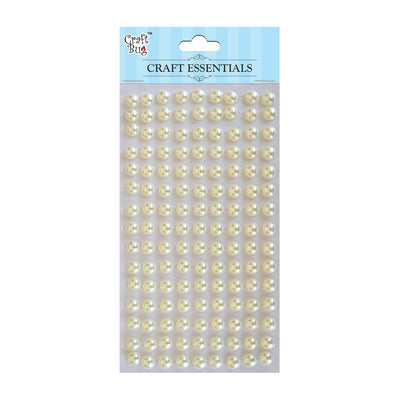 Plastic Half Pearl 8mm,120pcs- White