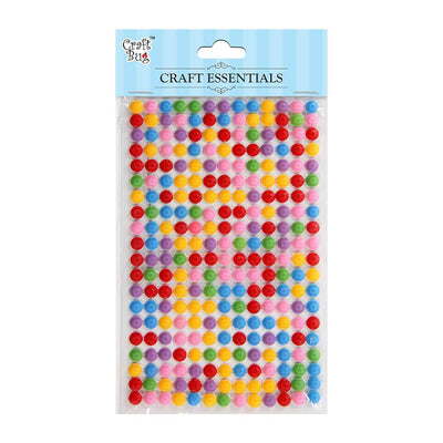 Faux Crystals/Rhinestones- Assorted Colour - 260Pc