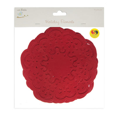 Paper Doily 6inch - Red