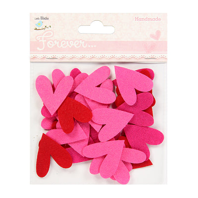 Hearty Delight- Felt Hearts, 30 pcs