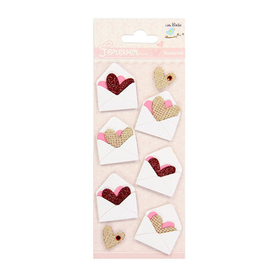 Burlap Mini Envelopes With Heart 8pcs