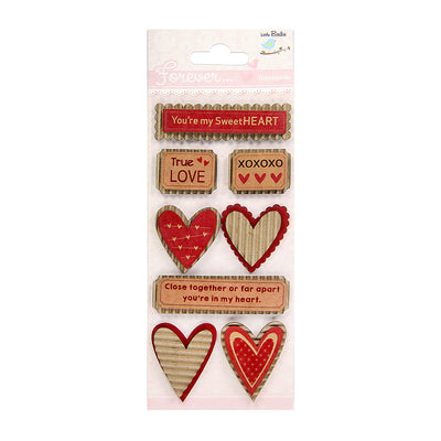 Corrugated Printed Hearts