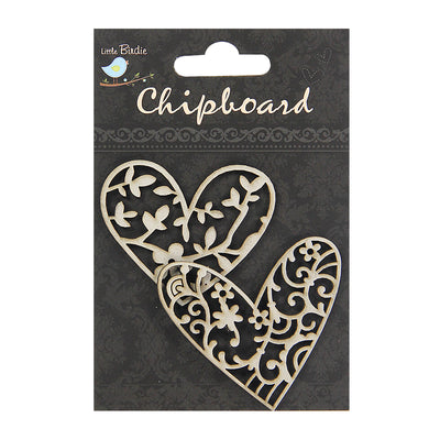 Chipboard Decorative Hearts