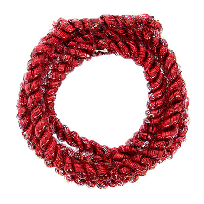 Christmas Decoration Tinsel Rope 2M- Red