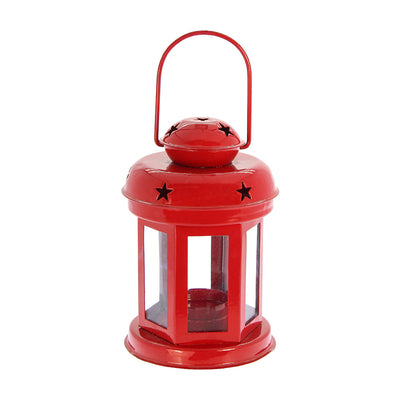 Diwali Metal Lantern - Red