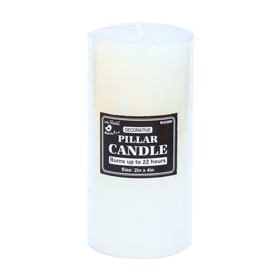 Decorative Pillar candle - Round, 1.8 x 4inch, 1pc