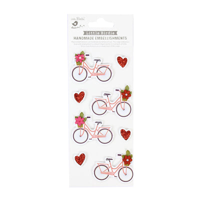 Glitter Embellishment Love Ride, 8pc