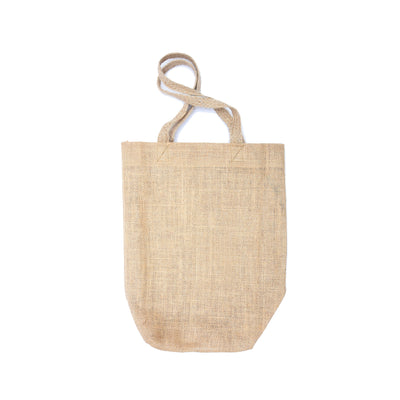 Burlap Tote Bag - 10X12In (Approx), Natural, 1 Pc